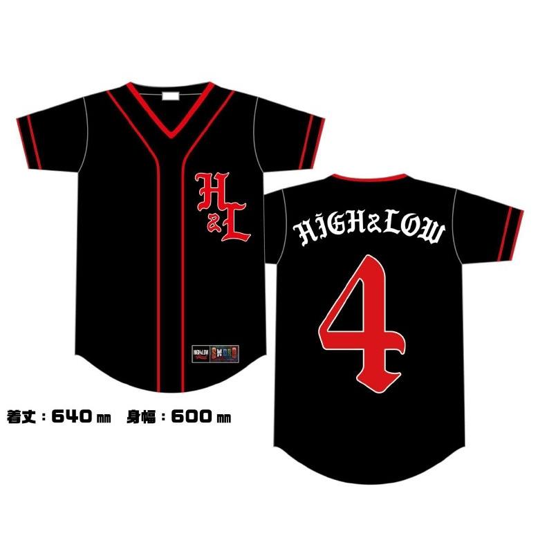 HiGH&LOW THE LAND ベースボールTシャツ/BLACK