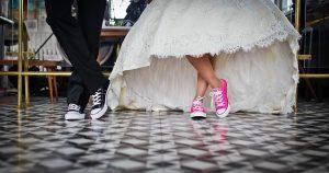 結婚式 新郎新婦の足元